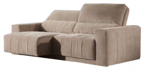 SOFA CHAISE RECLINABLE - TAPIZADO TELA BEIGE