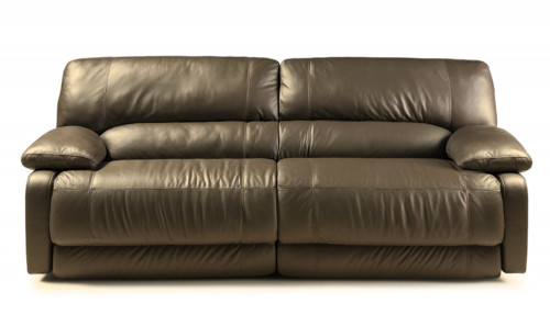 SOFA CINDY - 4 CUERPOS - 100% CUERO - CHOCOLATE MATE