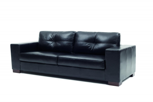 SOFA DOMINI - 2 CUERPOS - 100% CUERO - CHOCOLATE MATE